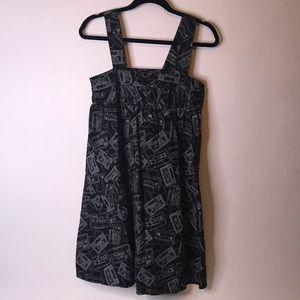 Cassette Tape Dress with POCKETS!, Size 6 (EU 36)